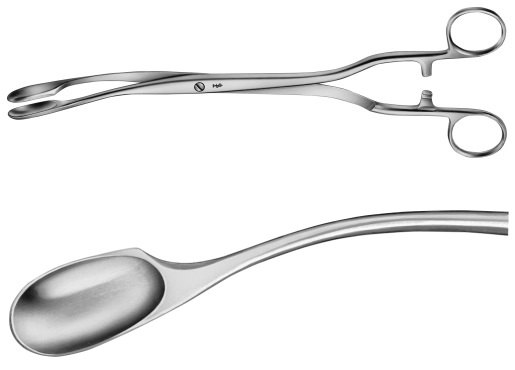 AE-ET316R, WINTER, PLACENTA AND OVUM FORCEPS FIGURE 3, W.RATCHED 290 mm, 11 1/2""