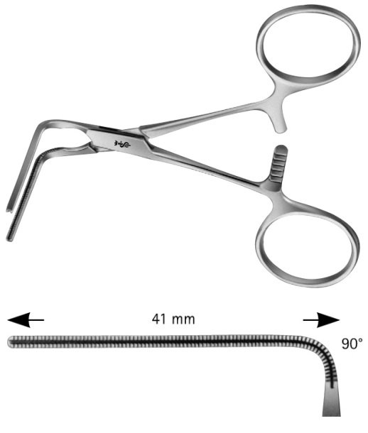 AE-FB707R, COOLEY, ATRAUMATA -VASCULAR CLAMP 90 DEGREES ANGLED 100 mm, 4""