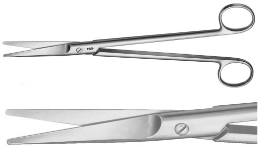 AE-BC560R, MAYO- HARRINGTON, DISSECTING SCISSORS, STRAIGHT, 230 mm, 9""