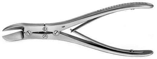 AE-FO641R, RUSKIN- LISTON, BONE CUTTING FORCEPS, CURVED 190 mm, 7 1/2""