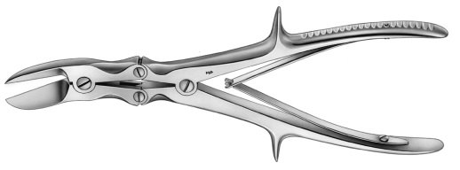 AE-FO645R, LISTON, BONE CUTTING FORCEPS, CURVED, 240 mm, 9 1/2""