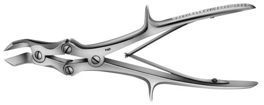 AE-FO649R, LISTON-KEY, BONE CUTTING FORCEPS, S-SHAPED FOR POSTERIOR RIB ENDS 255 mm, 10""
