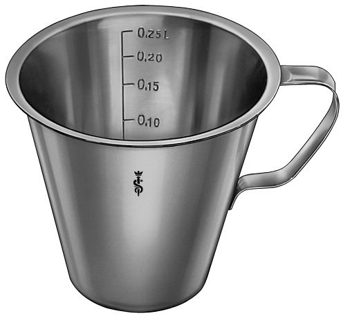 AE-JG516R, MEASURING CUP, WITH FOOT, GRADUATED, 0.25 L