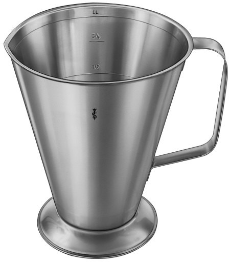AE-JG518R, MEASURING CUP, WITH FOOT, GRADUATED, 1.0L