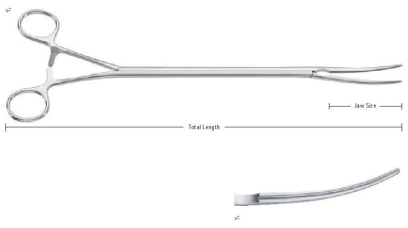AE-FC295R, Toothing 1:2 Debakey Toothing, Jaw Size: 2.8 x 60 mm, Total Length: 13'' (330 mm)