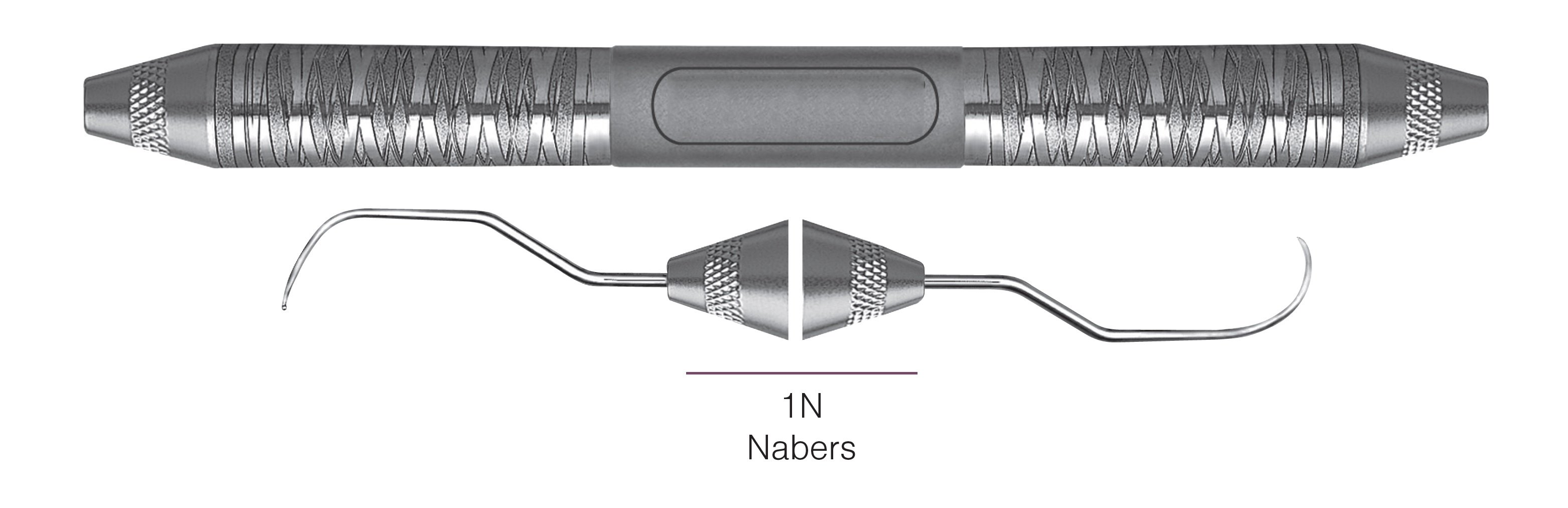 HF-P1N6-6, DOUBLE-ENDED FURCATION PROBES 1N/Nabers, Nabers Probes for assessing furcation areas, Handle Satin Steel, Aluminum Titanium Nitride (AlTiN) Coating, Double Ended