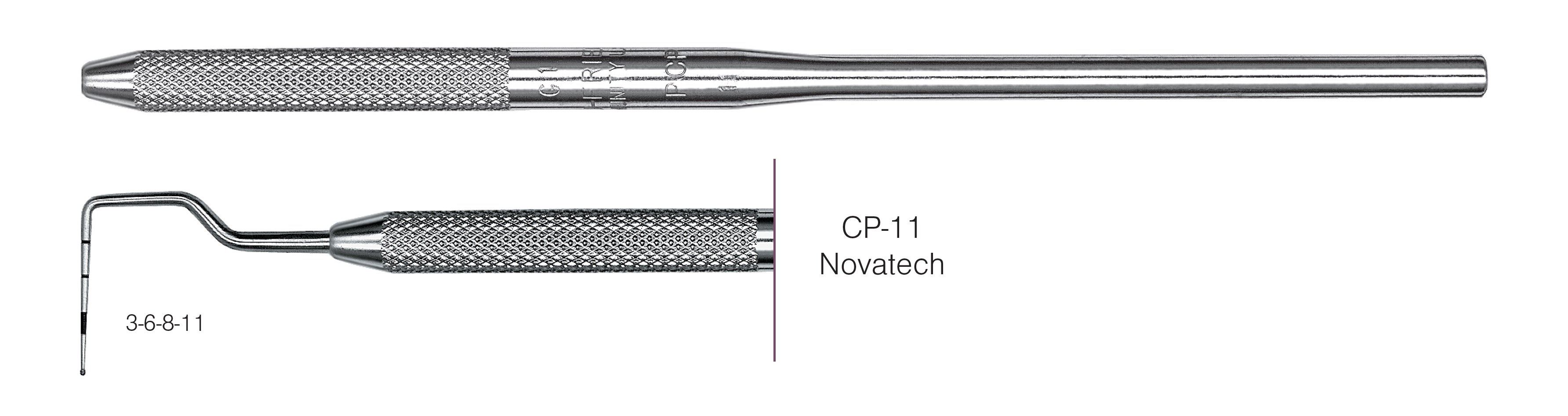 HF-PCPNT11-30, Novatech Screening Probe* CP-11, Black markings, 3-6-8-11 mm, Handle round, Single End