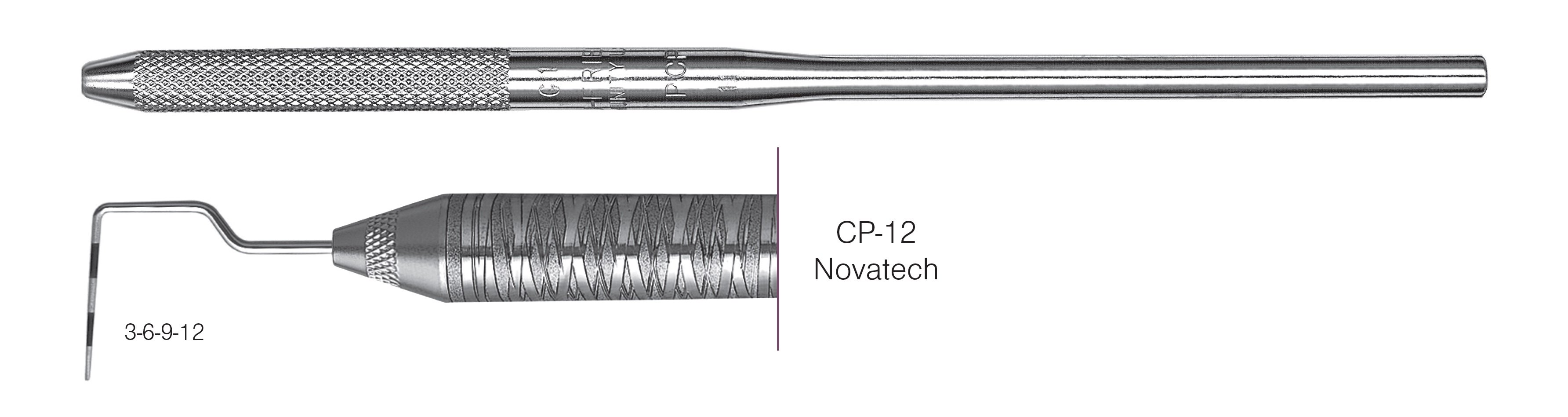 HF-PCPNT26-30, Novatech Screening Probe* CP-12, Black markings, 3-6-9-12 mm, Handle round, Single End