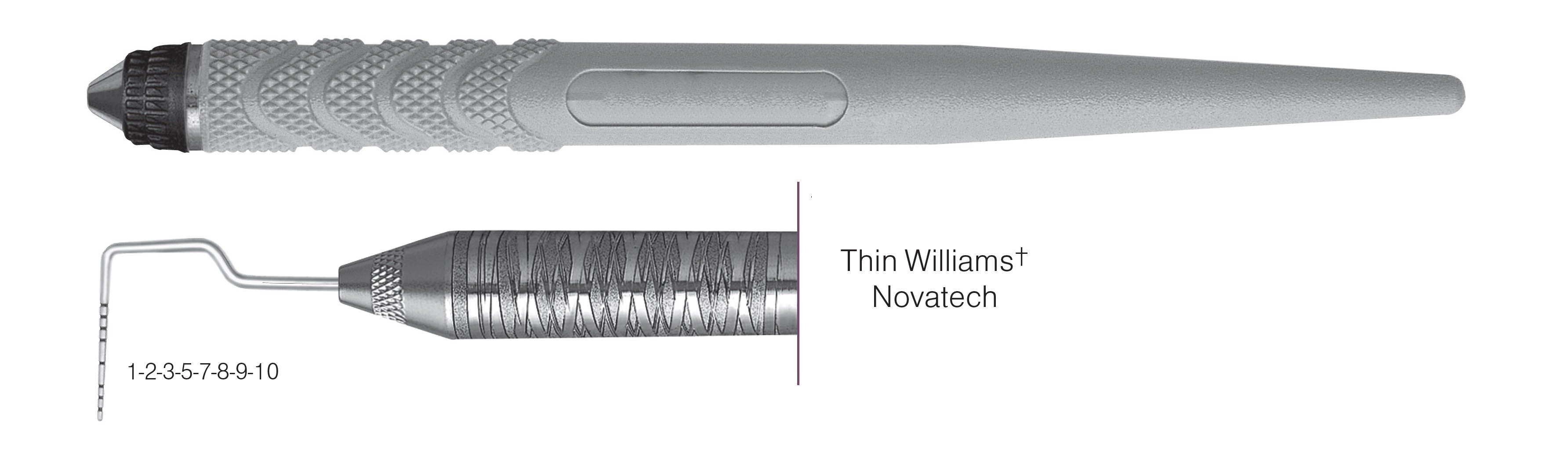 HF-PCPNTOW6-8, Thin Williams+ Novatech Probe, Black markings, 1-2-3-5-7-8-9-10 mm, Handle Resin Eight, Single End