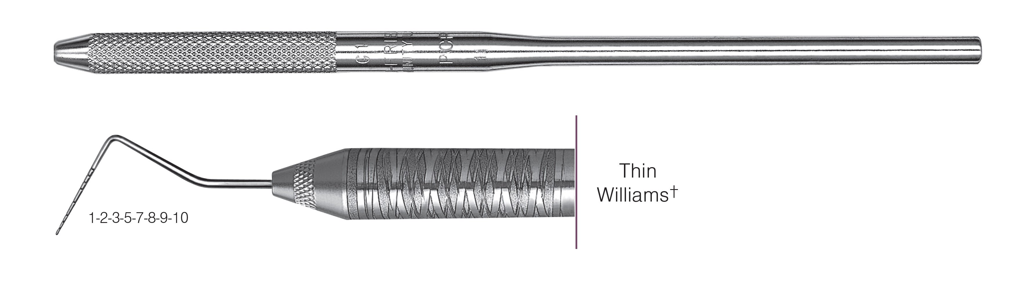 HF-POW6-30, SINGLE-ENDED PROBES Thin Williams+, Black markings, 1-2-3-5-7-8-9-10 mm, Handle round, Single End