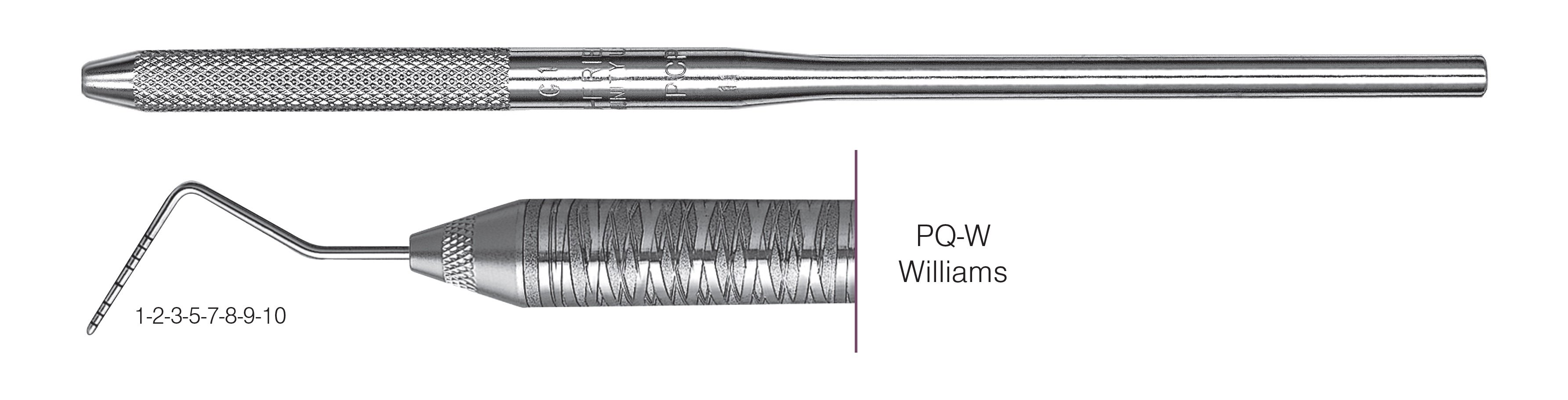 HF-PQW6-30, COLOR-CODED PROBES PQ-W Williams, Black markings, 1-2-3-5-7-8-9-10 mm, Handle round, Single End