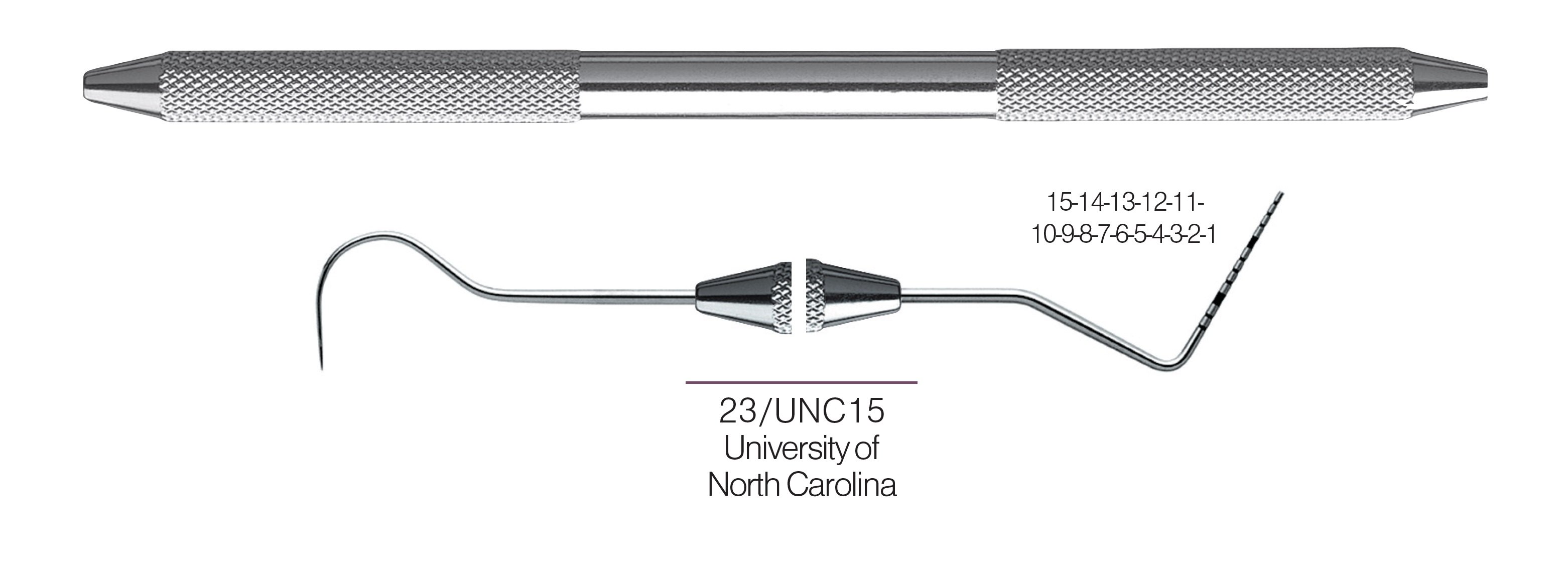 HF-XP23-UNC15-31, EXPROS, Explorer #23/UNC15 Probes, Black markings, 15-14-13-12-11-10-9-8-7-6-5-4-3-2-1 mm, Handle round, Double Ended