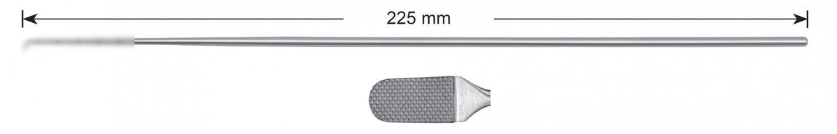 LW-49-0460, Cartilage rasp, fine, Stems alone, length 225 mm