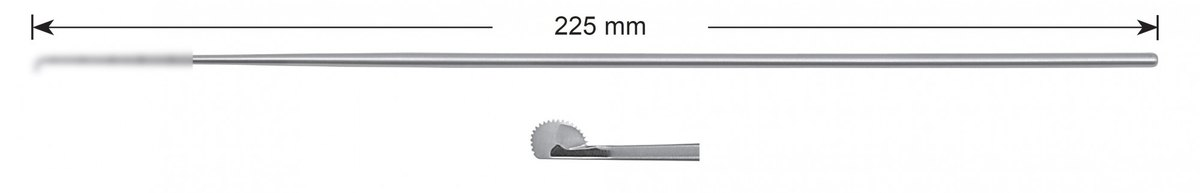 LW-49-0470, Rosette knife 3.0 mm, toothed, Stems alone, length 225 mm