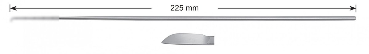 LW-49-0473, Scalpel knife, Stems alone, length 225 mm