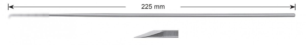 LW-49-0475, Bayonet knife, Stems alone, length 225 mm
