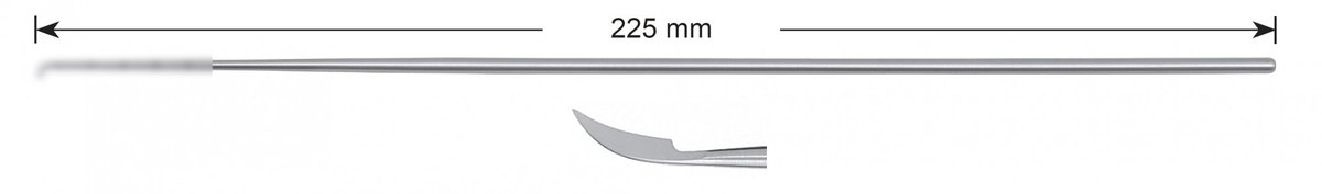 LW-49-0479, Sickle knife, Stems alone, length 225 mm